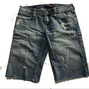 Hollister cut off jean shorts light size 0 Bermuda